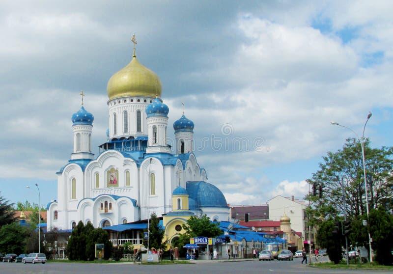 Catedral ortodoxo em Uzhorod, Ucrânia imagem de stock
