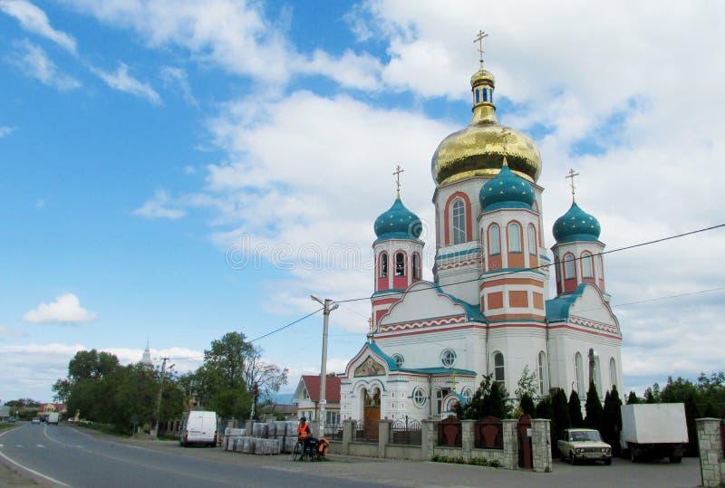Catedral ortodoxo em Uzhorod, Ucrânia fotografia de stock royalty free