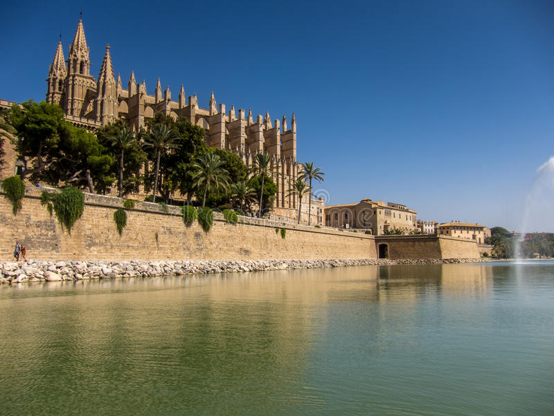 Catedral Palma de Mallorca imagens de stock