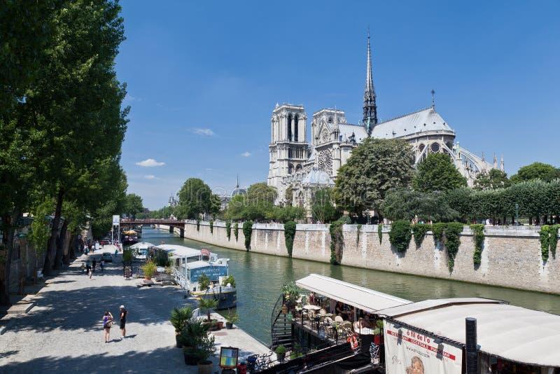 Catedral Paris de Notre Dame fotografia de stock