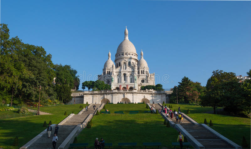 catedral Paris do coeur do sacre fotografia de stock royalty free