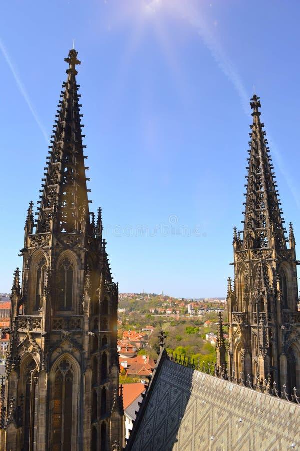 Catedral Praga del St Vitus foto de archivo libre de regalías