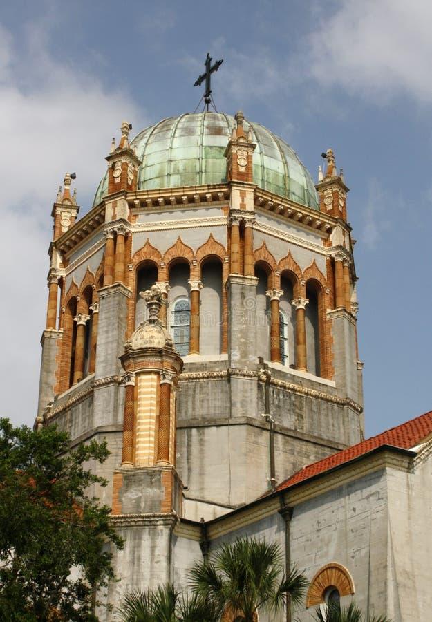 Catedral presbiteriano memorável da abóbada e da torre imagens de stock