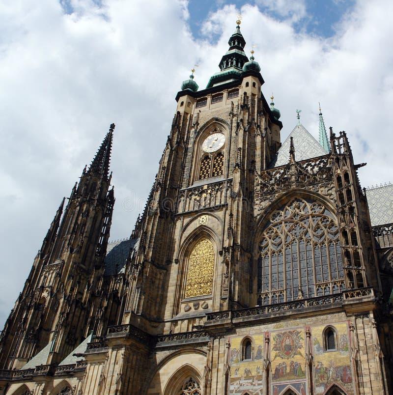 A catedral principal em Praga. foto de stock