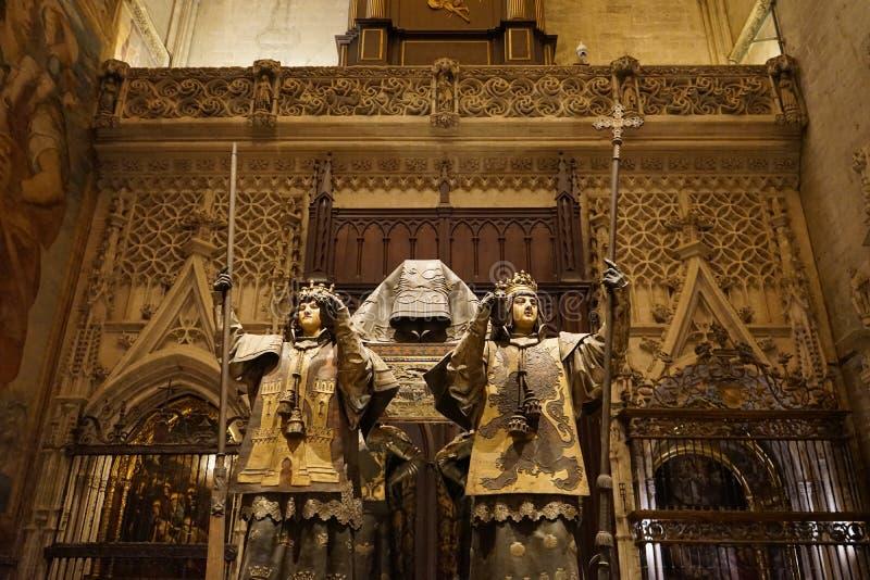 Catedral principal en Sevilla, España imagenes de archivo