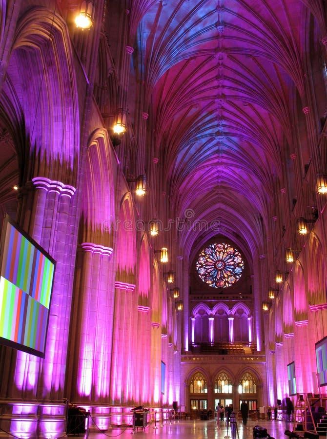 Catedral roxa e azul imagem de stock