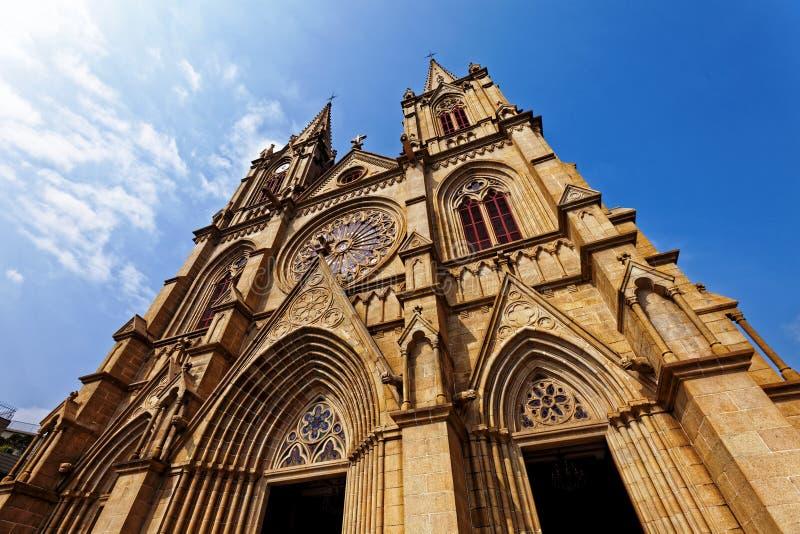 Catedral sagrada del corazón de Shishi en Guangzhou China foto de archivo