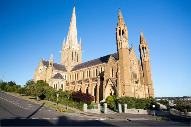Catedral sagrada del corazón en Bendigo fotografía de archivo libre de regalías