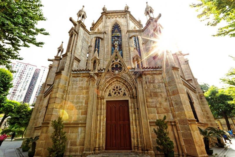 Catedral sagrado do coração de Shishi em Guangzhou China fotos de stock royalty free