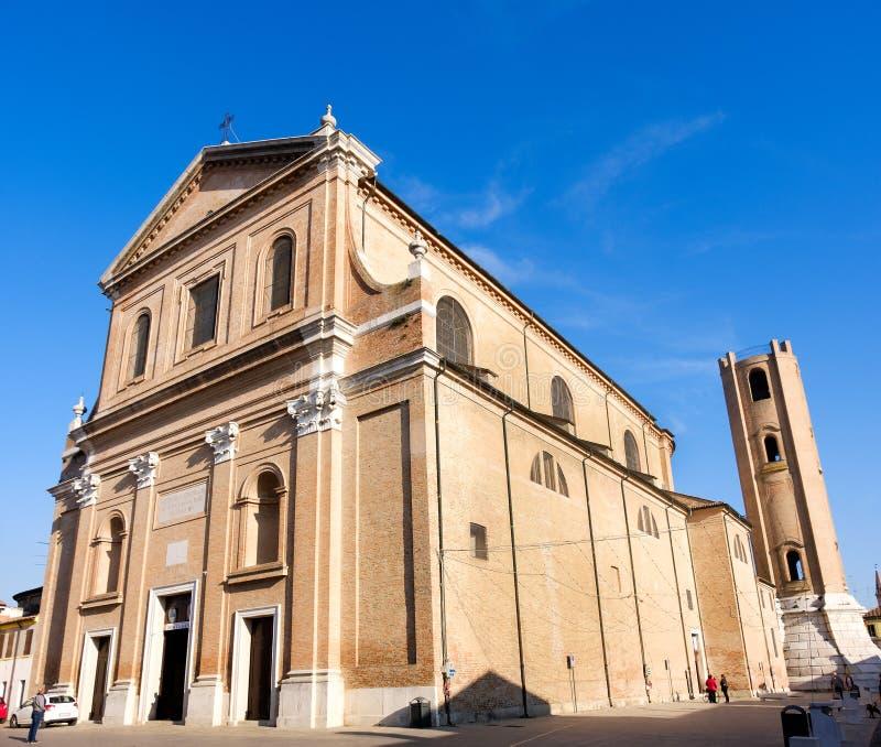 Catedral San Cassiano Emilia Romagna Italy de Comacchio imagenes de archivo