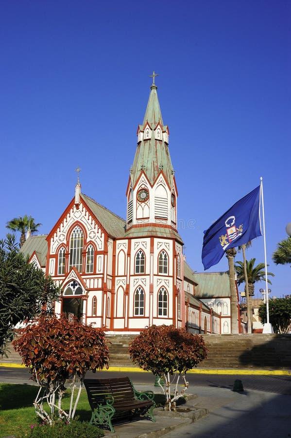Catedral, San Marcos, Arica foto de stock