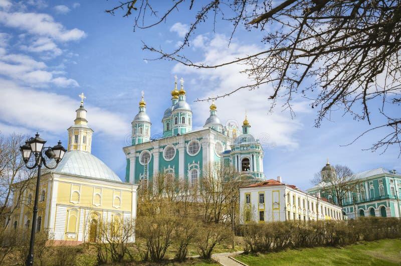 Catedral santa de la asunción smolensk Rusia fotos de archivo