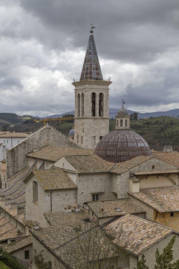 Catedral Santa Maria Assunta en Spoleto fotografía de archivo libre de regalías