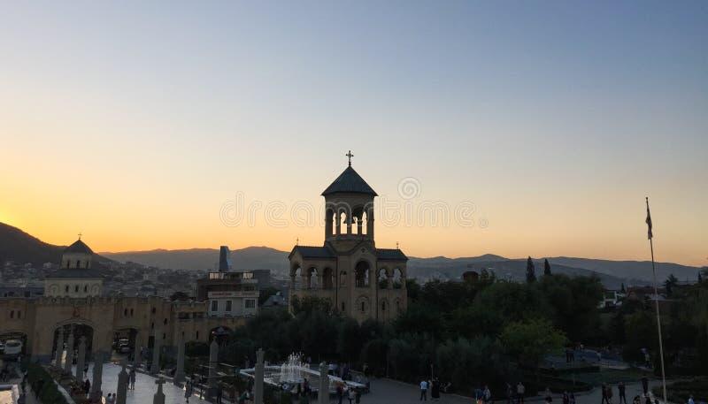 Catedral Santa Trindade de Tbilisi, Geórgia imagem de stock royalty free