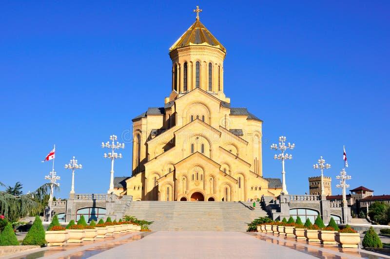 Catedral santamente da trindade de Sameba de Tbilisi, Geórgia foto de stock