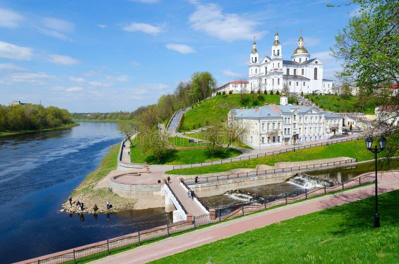 Catedral santamente de Dormition na montagem da suposição, Vitebsk, Bielorrússia fotos de stock