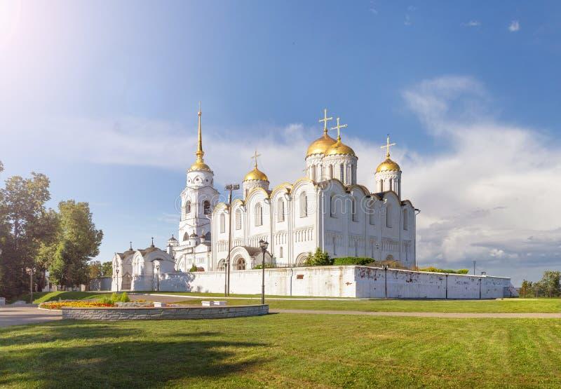A catedral santamente de Dormition Vladimir, Rússia fotos de stock