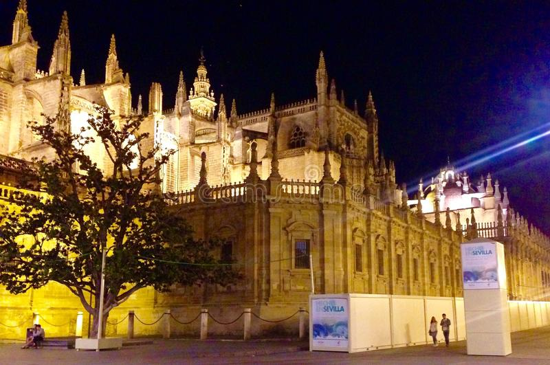 Catedral Sevilha imagem de stock