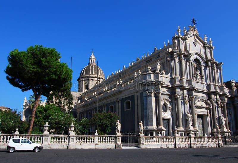 Catedral/Sicília de Catania foto de stock royalty free