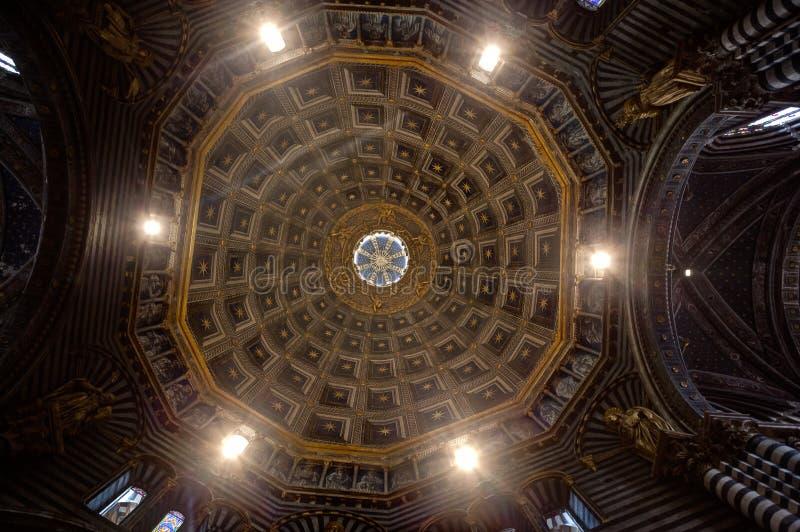 Catedral Siena, Toscana, Toscana, Italia, Italia del duomo de la cópula de la bóveda imagenes de archivo