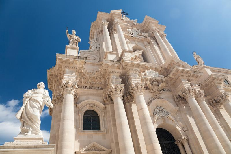 Catedral, Siracusa, Sicília imagens de stock