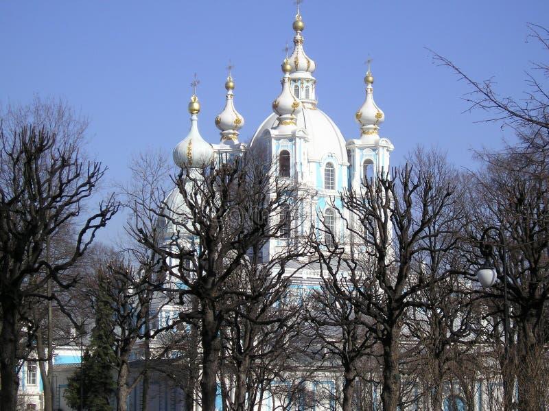 catedral smolny wiosna obrazy stock