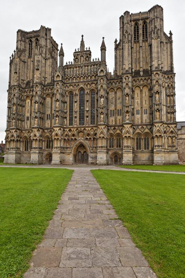 Catedral Somerset de Wells, Inglaterra, Reino Unido imagens de stock royalty free