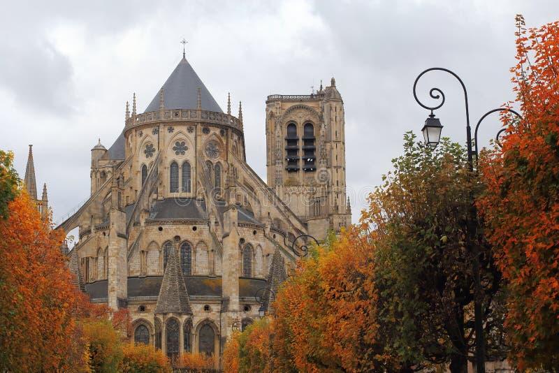 Catedral St Etienne de Burges fotografia de stock