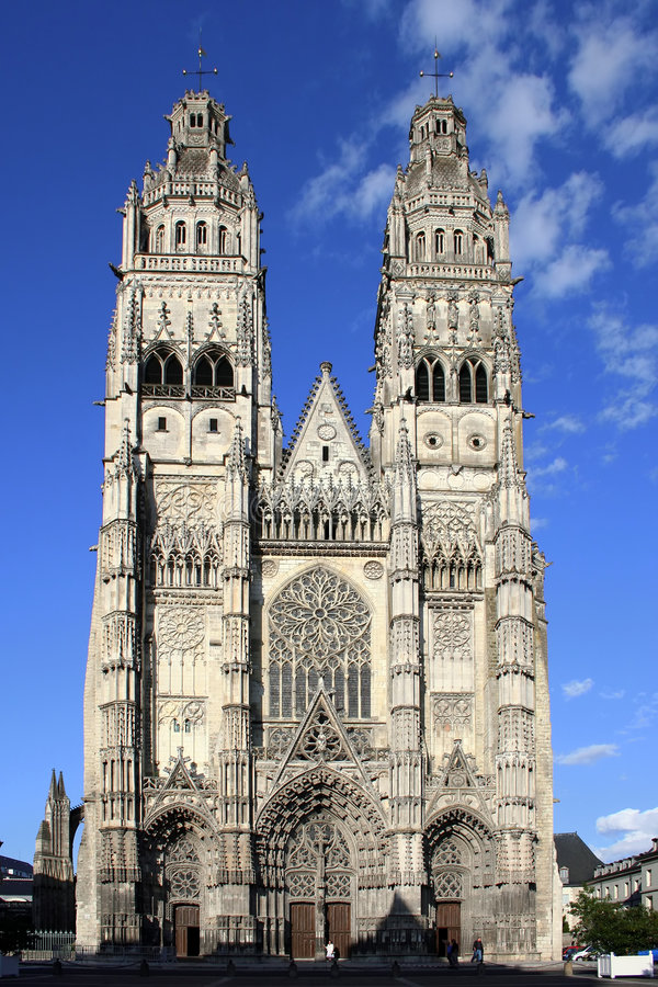 Catedral St-Gatien fotografia de stock