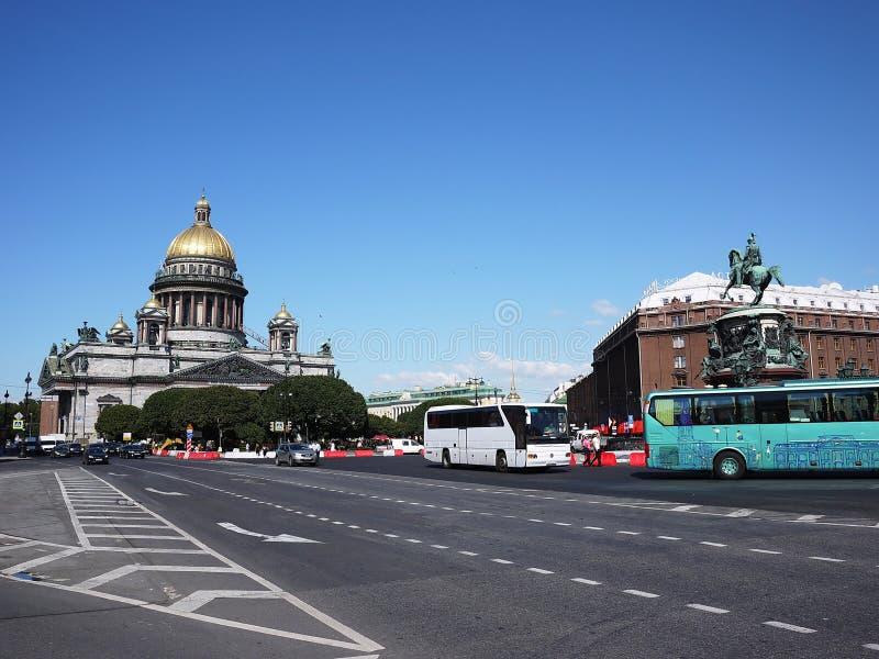 Catedral St Petersburg del St Isaac La capital del mar de Rusia Detalles y primer fotos de archivo