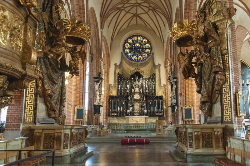 Catedral Storkyrkan de Éstocolmo fotos de stock royalty free
