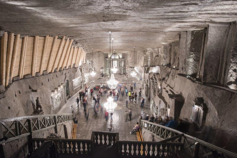 Catedral subterrânea de sal de Poland's imagens de stock royalty free