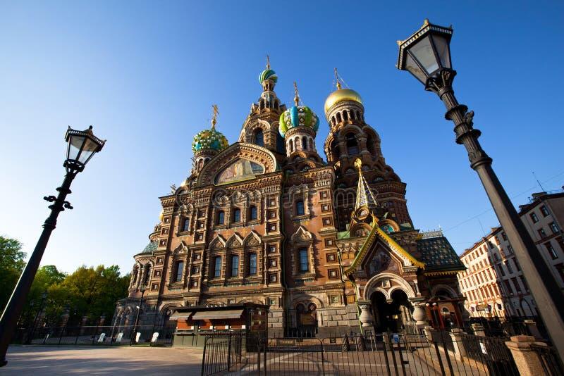 catedral Termas-na-krovi em St Petersburg fotos de stock royalty free