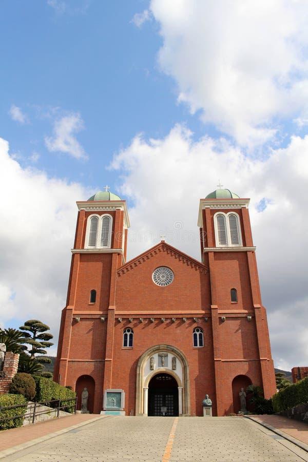 A catedral Urakami da concepção imaculada de Nagasaki imagens de stock