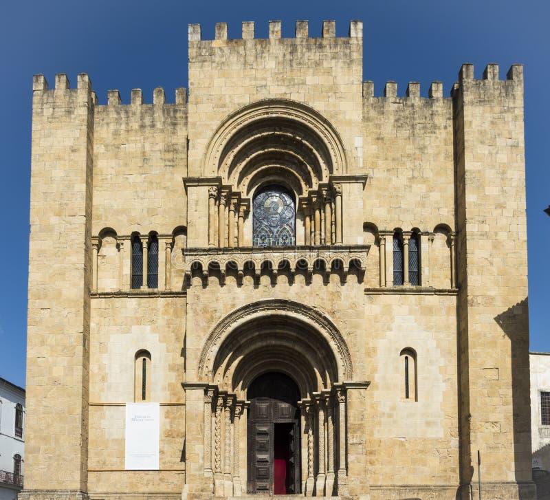 Catedral velha de Coimbra foto de stock royalty free