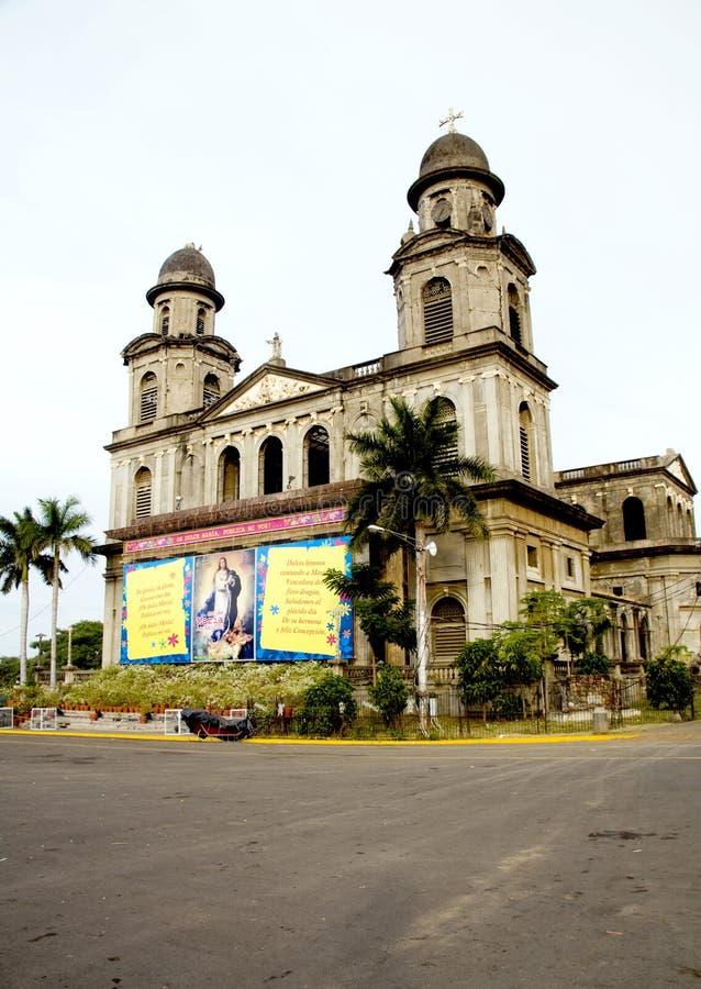 Catedral velha Managua imagens de stock royalty free