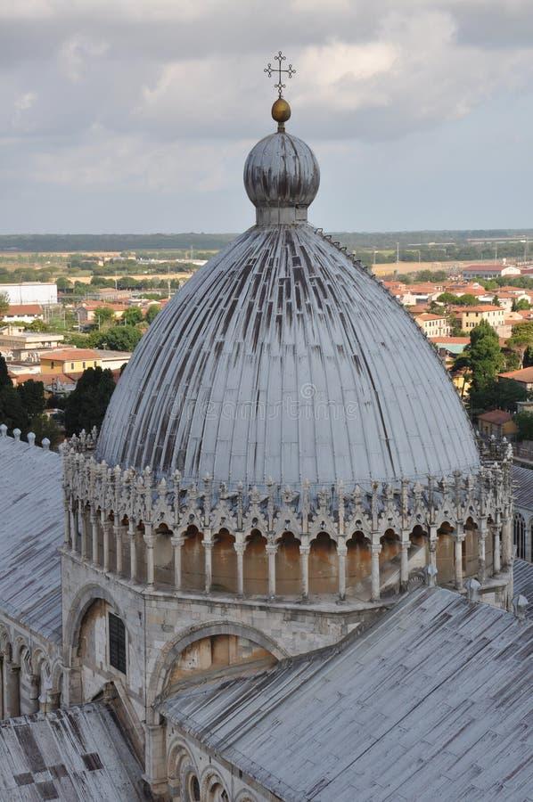 Catedral vertical de la visión de Pisa fotos de archivo libres de regalías