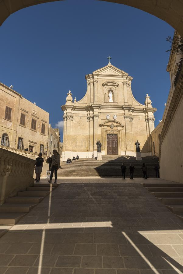 Catedral Victoria Gozo do IL-Katidral Ta 'Għawdex imagem de stock royalty free