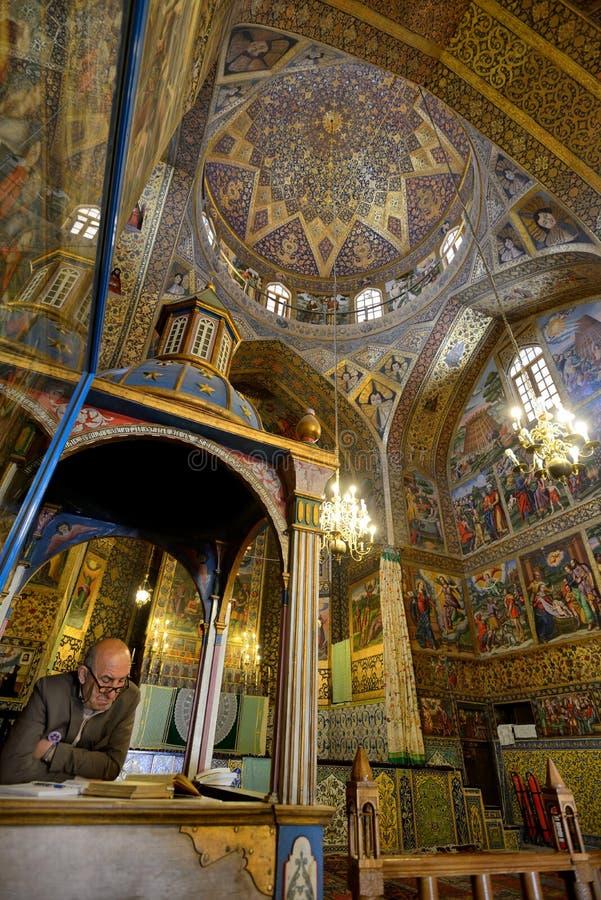 Catedral vieja de Vank del armenio, Irán imagenes de archivo