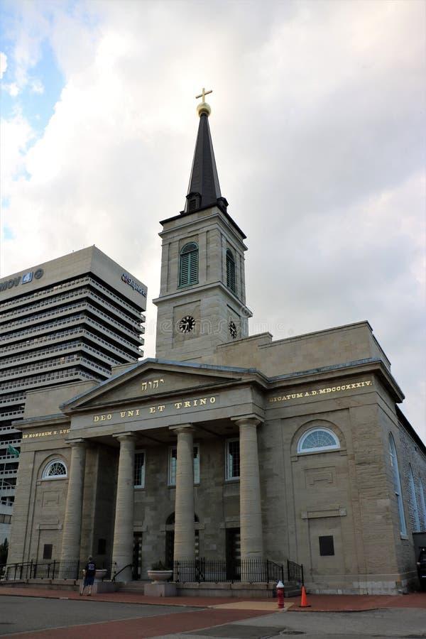 Catedral vieja en St. Louis fotografía de archivo