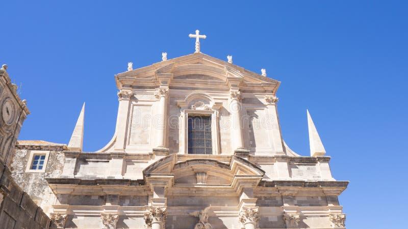Catedral vieja hermosa de Dubrovnik en Croacia fotos de archivo libres de regalías