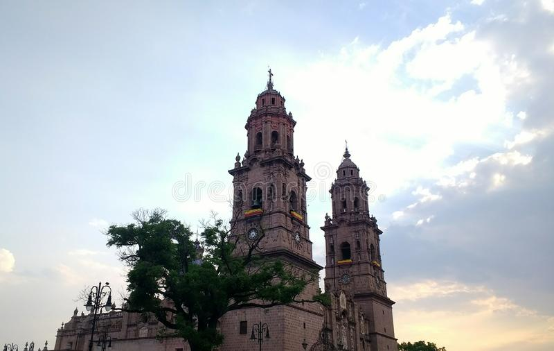Catedral von Morelia stockbilder