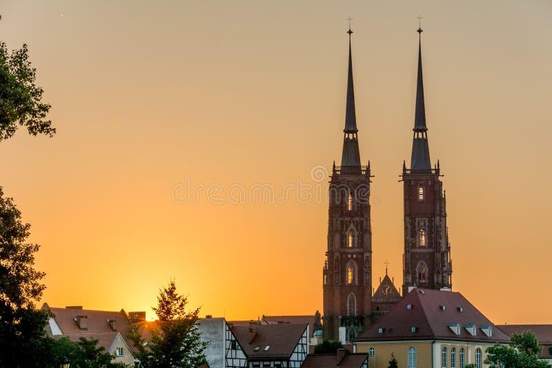Catedral Wroclaw fotos de stock