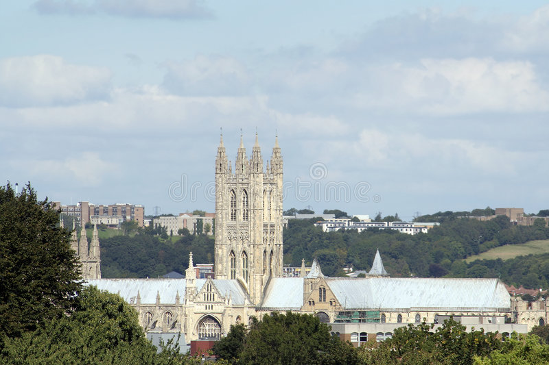 Catedral y alrededores de Cantorbery foto de archivo