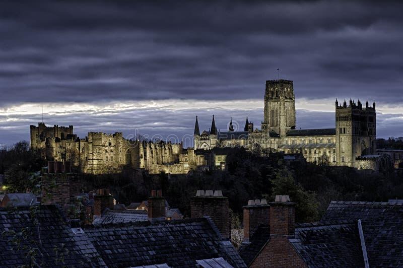 Catedral y castillo de Durham imagenes de archivo