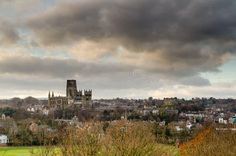 Catedral y castillo de Durham imagen de archivo libre de regalías