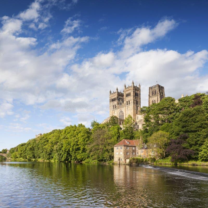 Catedral y el desgaste Inglaterra de Durham del río fotografía de archivo