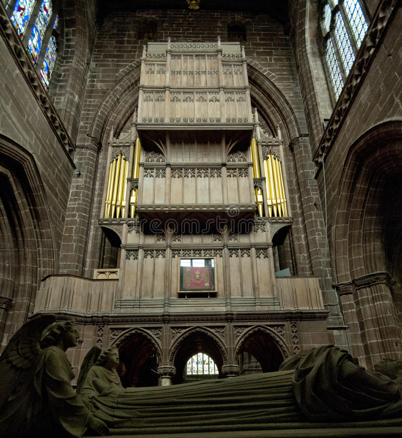 Catedral de Chester fotos de archivo libres de regalías