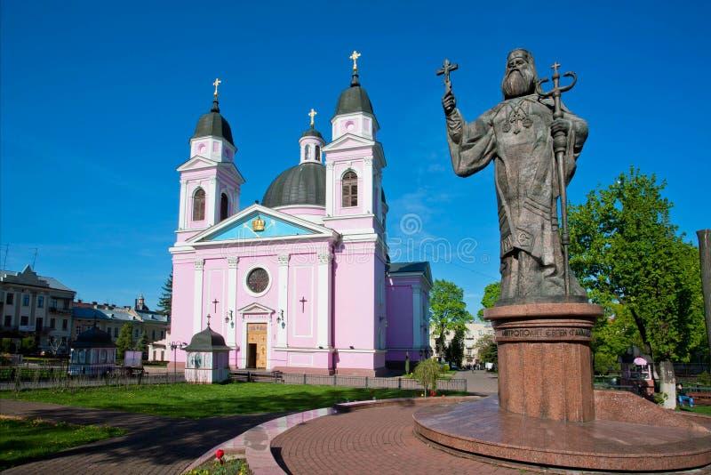 Catedral y monumento rosados del color a Metropolit fotos de archivo libres de regalías