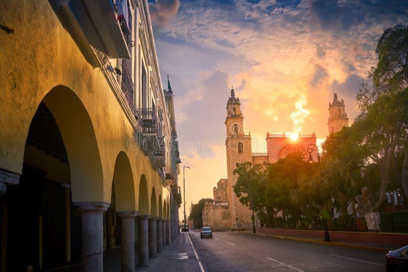 Catedral Yucatán de Merida San Idefonso imagen de archivo